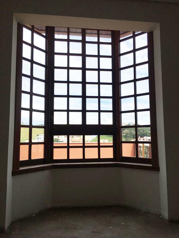 Janela Modelo Bay Window - Vista Interna