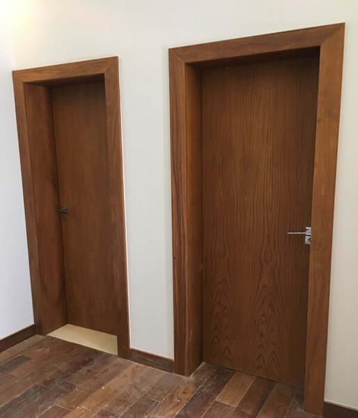 Kit Porta Pronta em Madeira Ipê