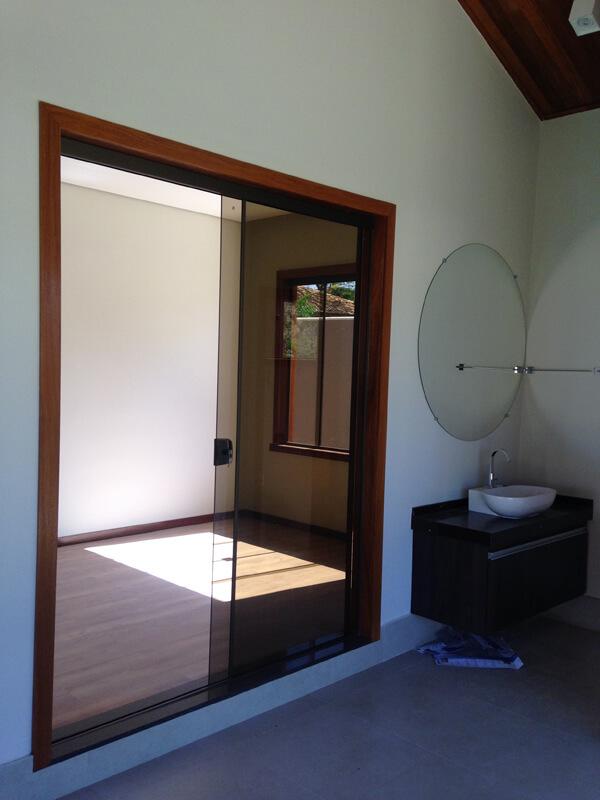 Marco de Porta Interno para Vidro Blindex