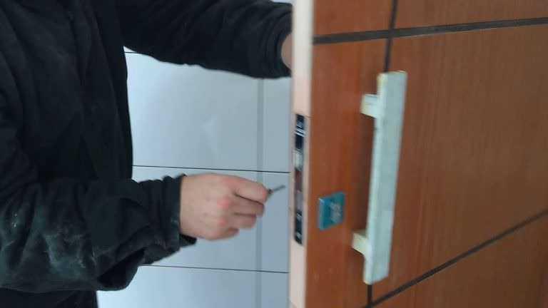 Processo de instalação de uma porta